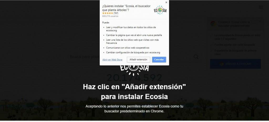 Instalación Ecosia