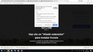 Buscador ecológico Ecosia instalación